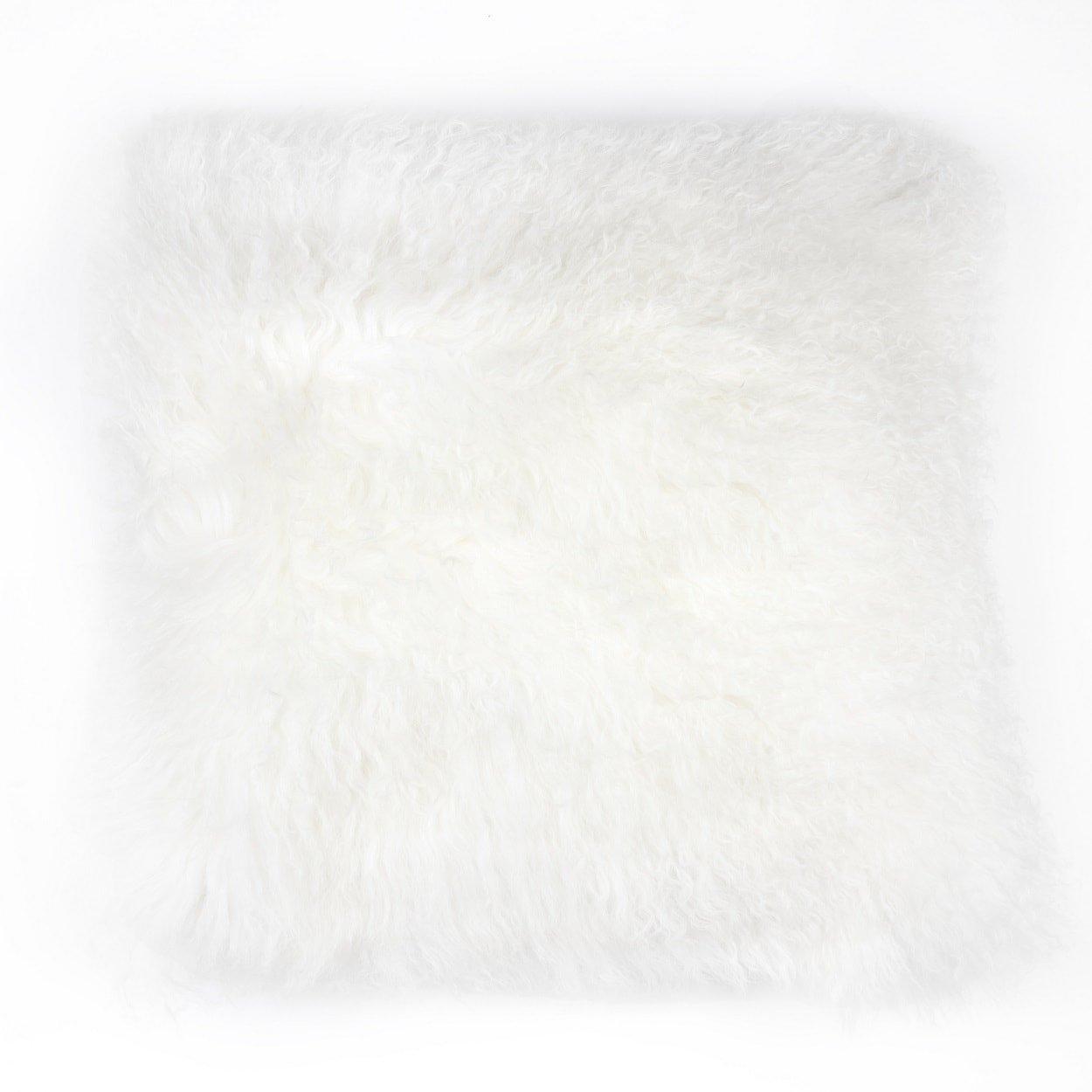 コントロールブランドShaggy Lamb枕カバー 20 x 20 ベージュ MXP001BEIGE  ベージュ B01N52QFS1