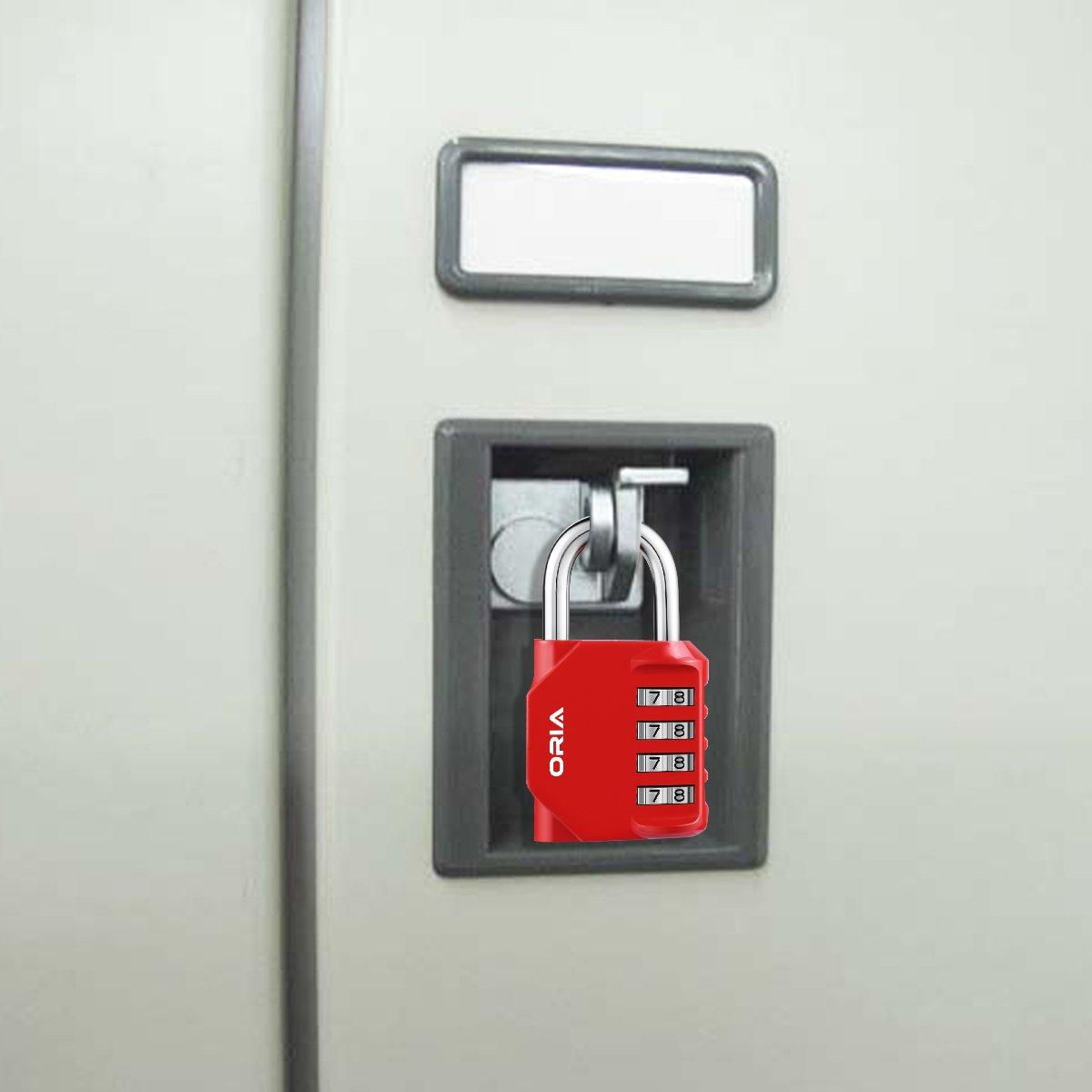 /Confezione con 2 Lucchetti con combinazione a 4/cifre blu in acciaio per armadietti della palestra e impianti sportivi Oria/ per armadietti per i dipendenti per armadietti scolastici e armadi