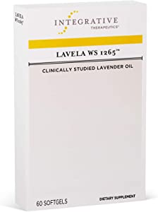 Integrative Therapeutics - Lavela WS 1265 - Clinically Studied Lavender Oil to Reduce Occasional Anxiety - Non-Habit Forming - 60 Softgels