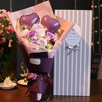 Wmshpeds Seifen Blumen Geschenk Kasten Romantische Hochzeit