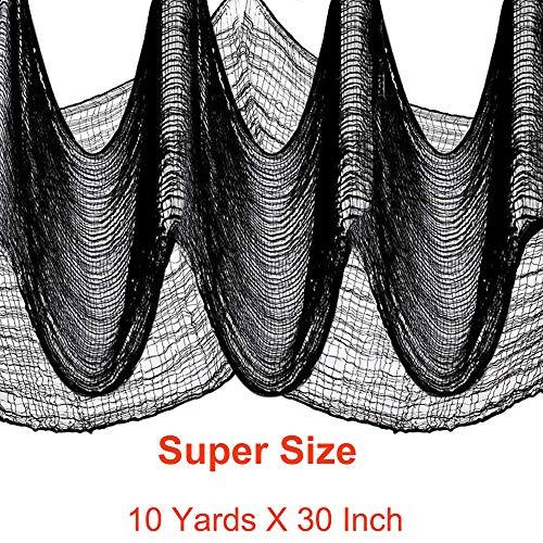 Cheap Halloween Cheesecloth (10 Yard X 30'' Halloween Creepy Fabric for Yard ,Porch, Window or Front Door)