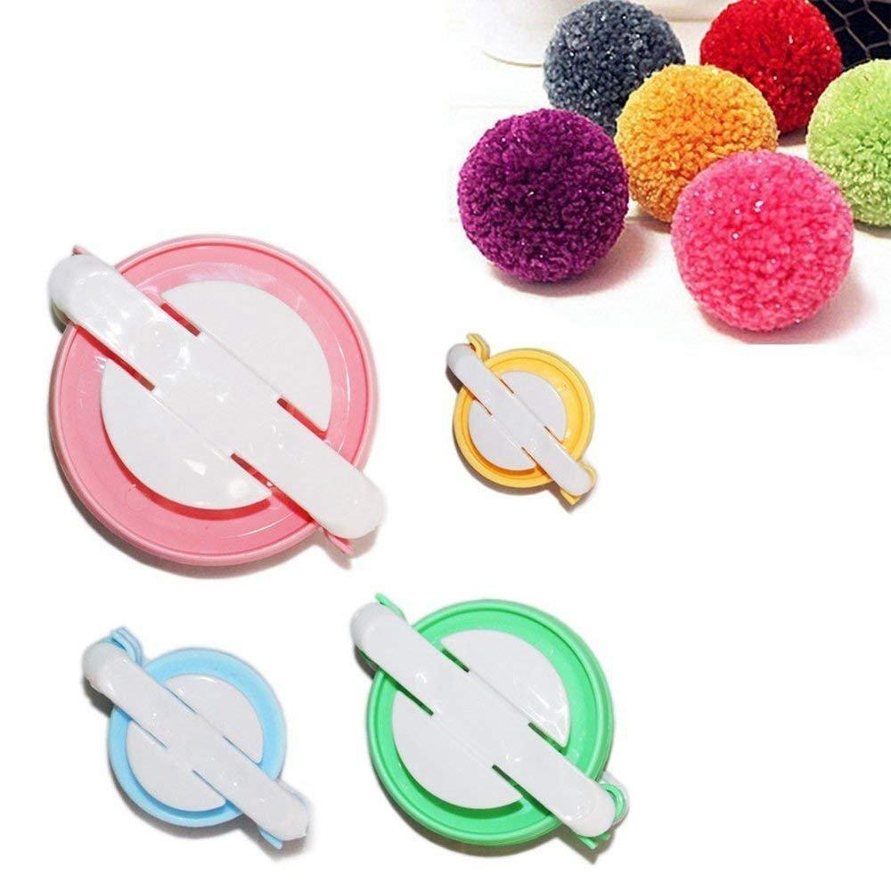 4 Sizes of Pompom Maker Fluff Ball Weaver DIY Knitting Craft Tool Kit ying-xun