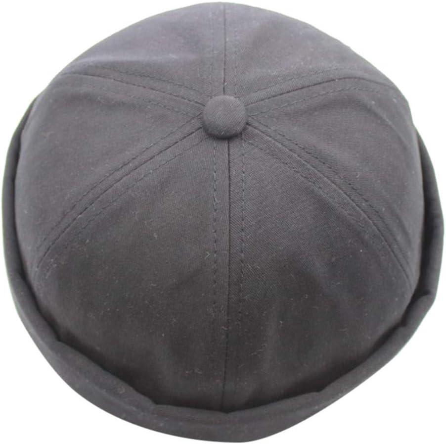 CapsA Brimless Hats for Men Mechanic Painter Fisherman Hat Casual Docker Sailor Mechanic Brimless Caps Vintage Dome Melon Cap