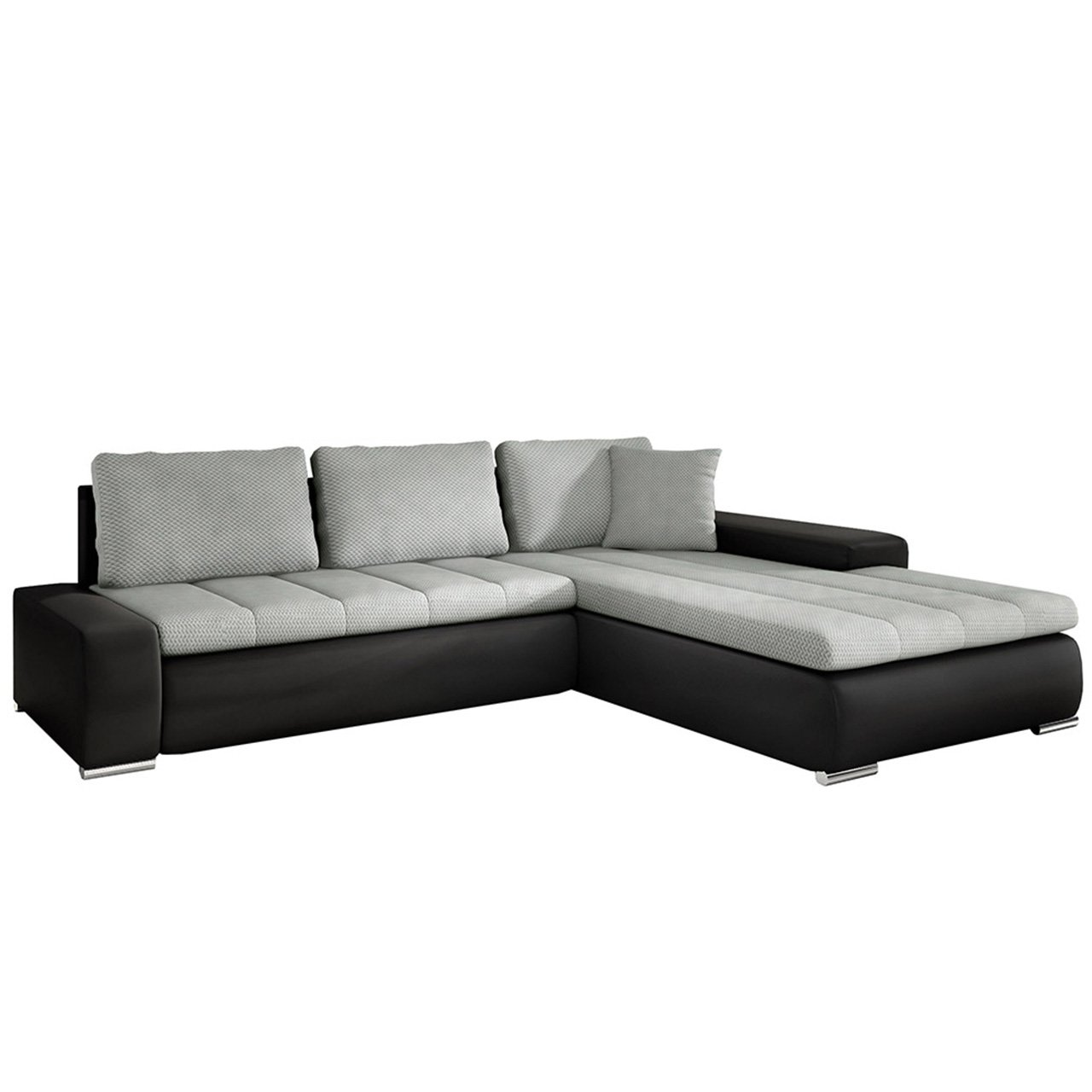 Eckcouch ecksofa orkan smart elegante sofa mit for Couch mit bettfunktion und bettkasten