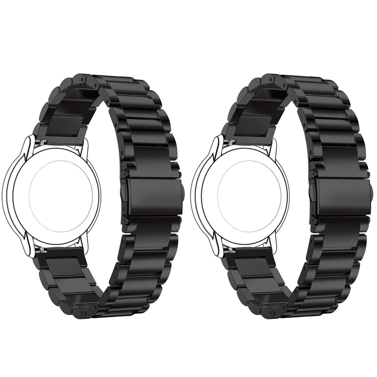 Amazon.com : ECSEM 2pcs for Mens Moto 360 2 42mm Bands ...