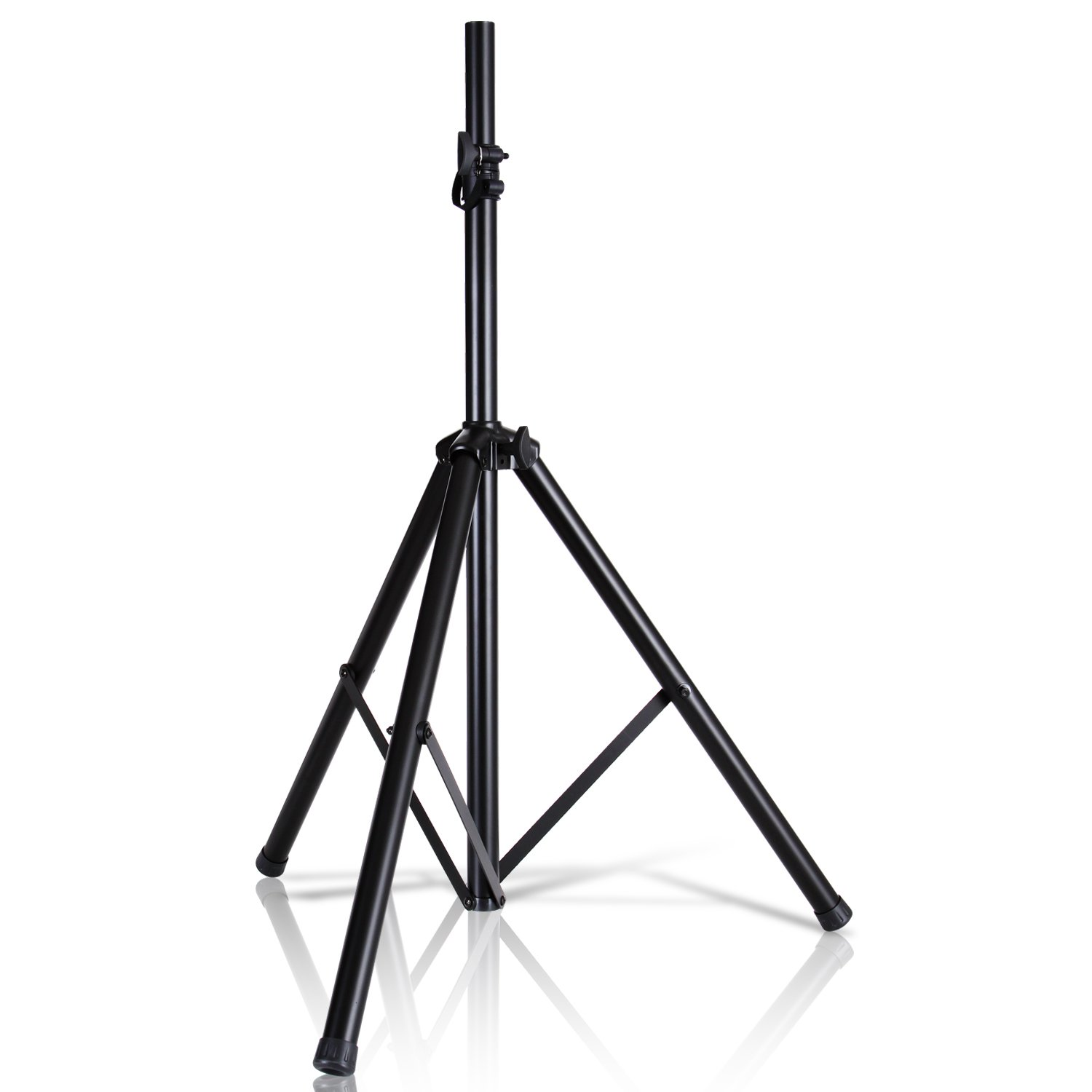 """Universal Speaker Stand Mount Holder - 6'ft Heavy Duty Tripod w/Telescoping Height Adjustment 40"""" to 71"""" 35mm Compatible Insert Knob Style Lock Perfect for On-Stage or in-Studio Use - Pyle AZPSTND2"""
