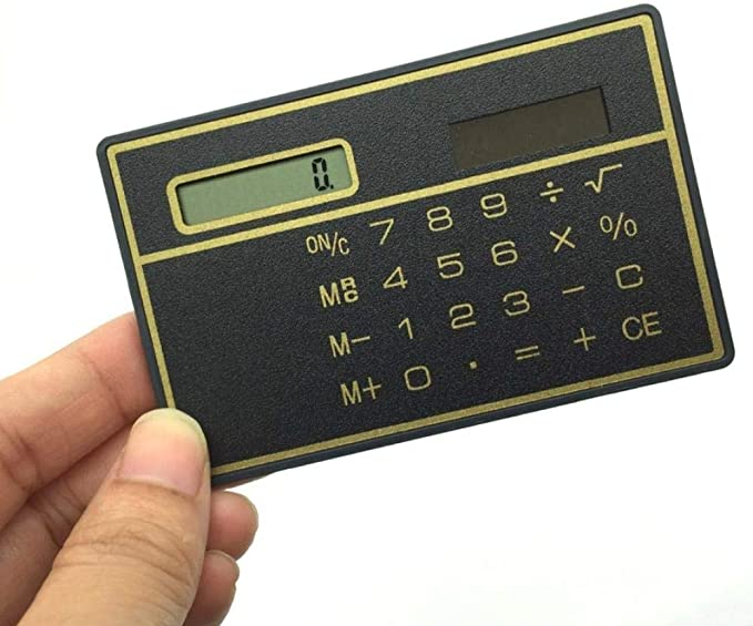 Nützliche 8-stellige ultradünne Mini Slim Kreditkarte Taschenrechner Power U6D7