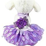 Sumen Small Dog Dress Lace Wedding Party Princess Dress Pet Apparel