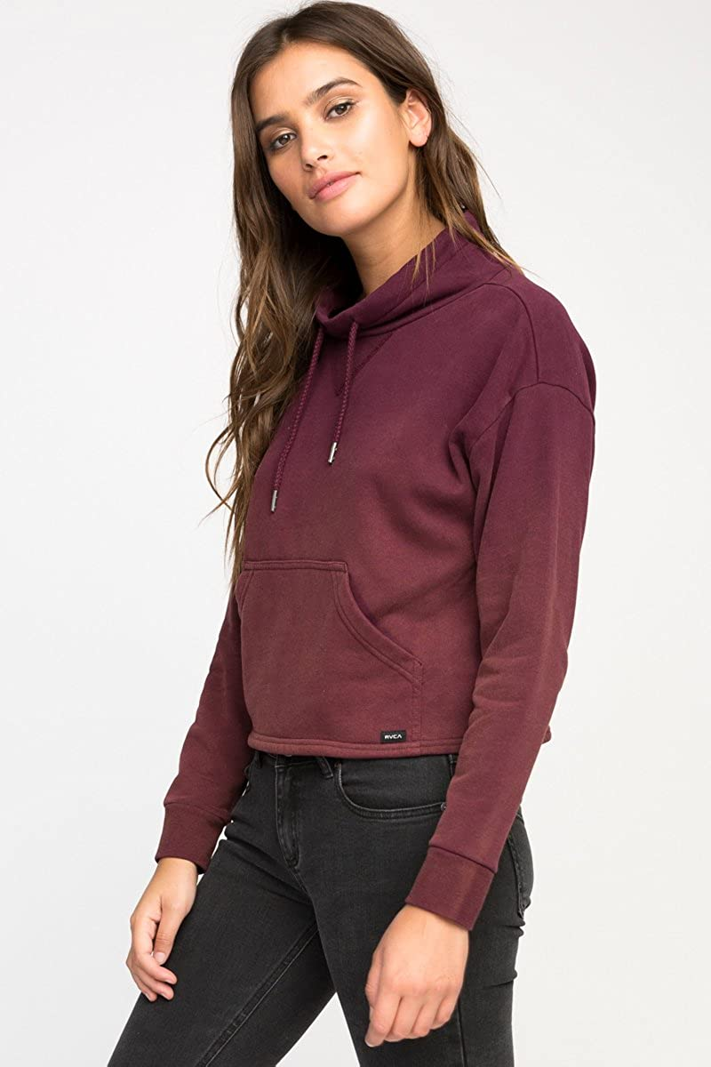 RVCA Womens Smudged Cropped Fleece Top