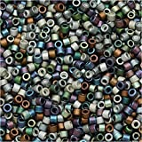 seed beads for jewelry making - Miyuki DB-MIX24 11/0 Matte Heavy Metals 7.2g Delica Seed Beads Mix