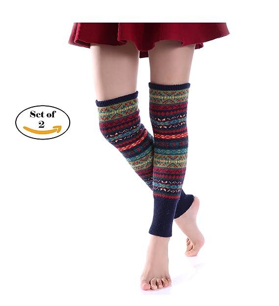 Amazon Jelinda Retro Knitting Leg Warmer Knitted Crochet Long