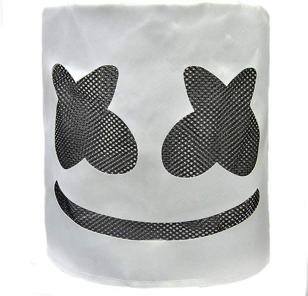 Marshmello Cosplay Costume Jumpsuit+Mask DJ Music Led Helmet Outfits Romper Lot