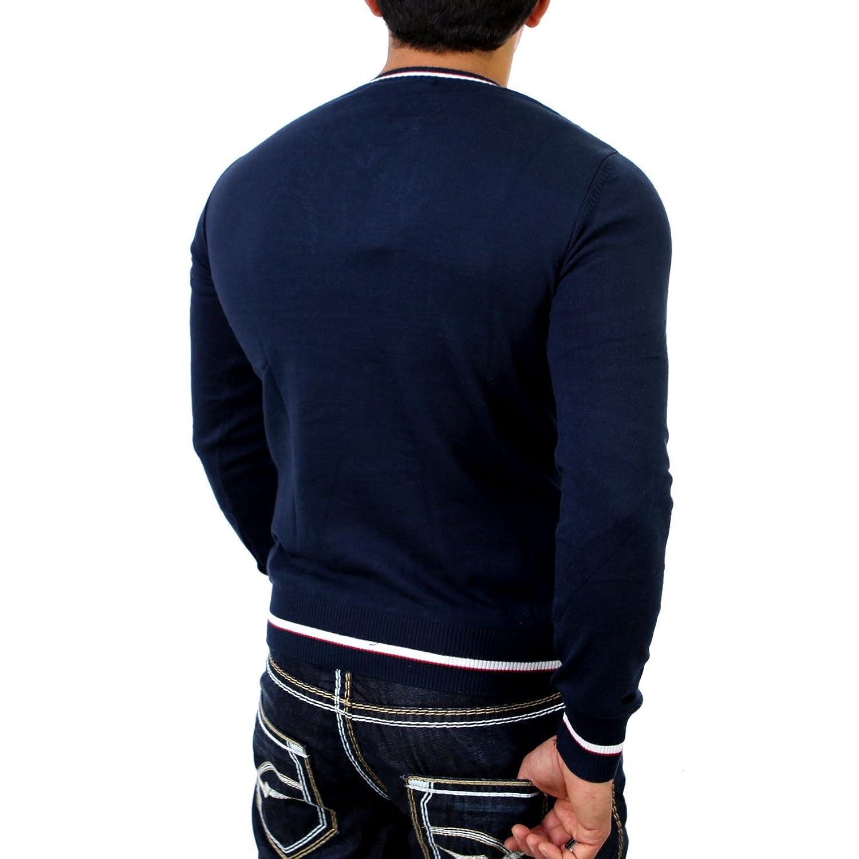 Cipo & Baxx Mens Fine Knit Sweater C-6330 D Blue Size S