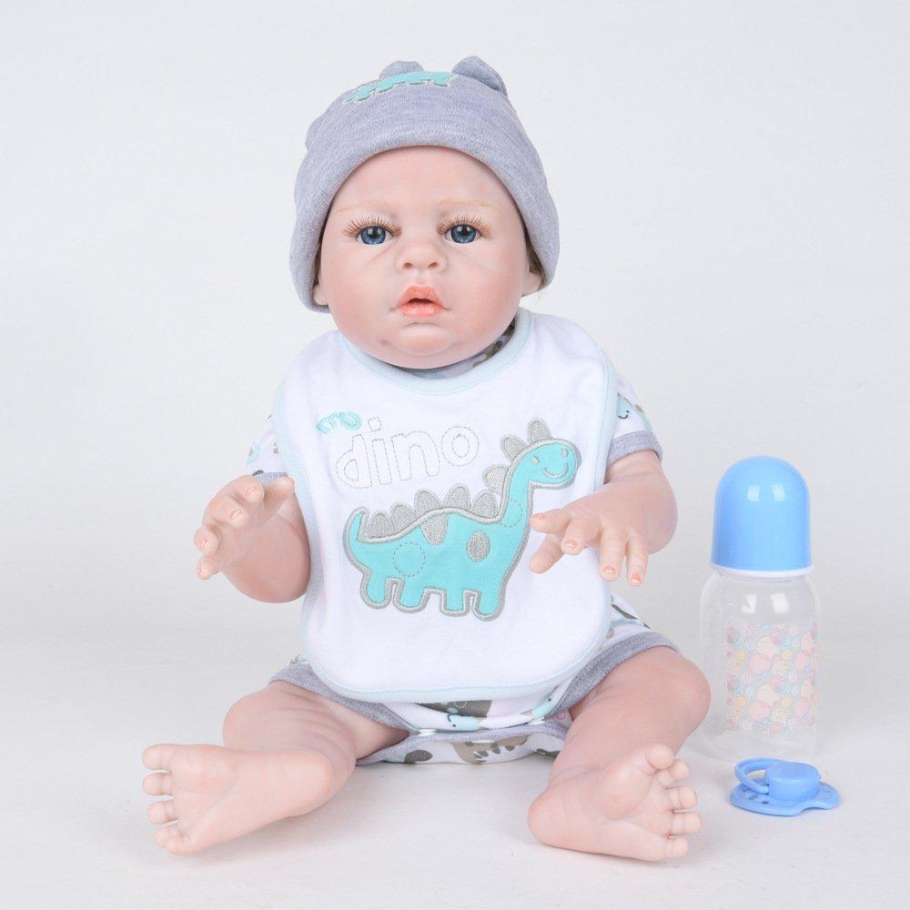 GAOYY Simulation Baby Puppe Rebirth Puppe 50 cm Voll Kunststoff Silikon Puppe Baby Blau Eyes,50cm B07G48PN9W Babypuppen Überlegene Qualität | Nicht so teuer