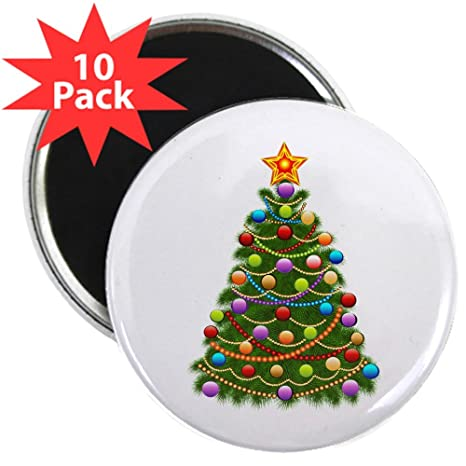 Amazon Com 2 25 Inch Magnet 10 Pack Elegant Christmas Tree And