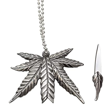 78a580f1a40a4 Marijuana Leaf Necklace Knife