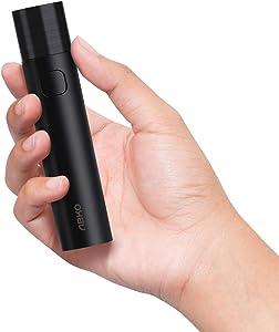 ABKO Compact Portable Charger 3000mAh Battery Fast Charging Mini Lipstick-Sized Power Bank Pocket Flashlight Compatible iPhone Samsung Galaxy B01 Black
