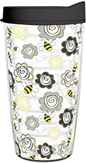 product image for Smile Drinkware USA-BEE HAPPY 16oz Tritan Insulated Tumbler With Lid and Straw