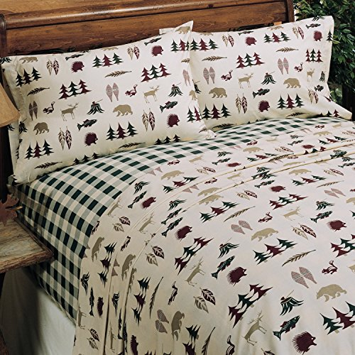 All Seasons Bedding Northern Exposure - King Sheet Set (Bed Set Northern Exposure Cabin)