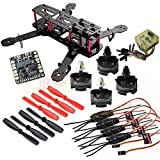 Hobbypower DIY 250mm Quadcopter Frame Kit+ HP T2204 2300KV Motor +Simonk 12A ESC +CC3D Flight Controller +5045 Propeller