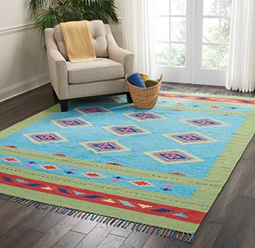 Nourison Baja Area Rug, 8 x10 , BLUE GREEN