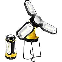 T-SUN Linterna de Trabajo Recargable 1200mAh, lámpara de Inspección de 7 Modos, Impermeable Lámpara Camping LED Portátil, para Emergencia, Taller, Automóviles, Actividades Exteriores.