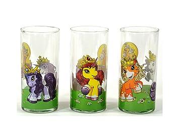Juego de 3 vasos poni Filly Unicornio 300 ml Amazones Hogar