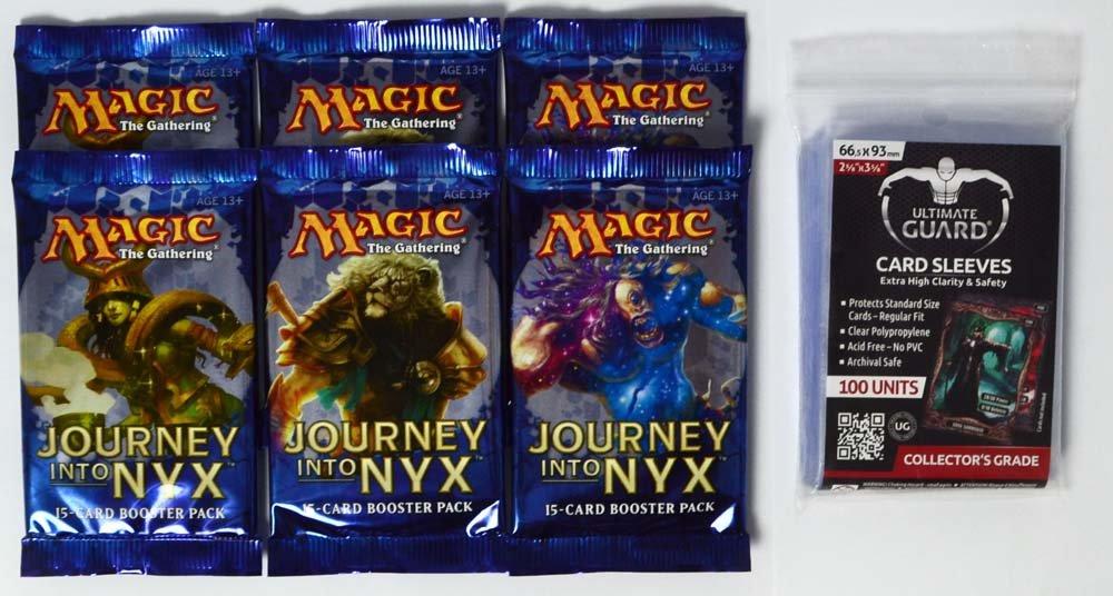 MTG - Journey into Nyx 6 Boosterpacks - EN + Schutzhüllen B00K1E624I Packs & Sets Ausgezeichneter Wert  | Verschiedene aktuelle Designs