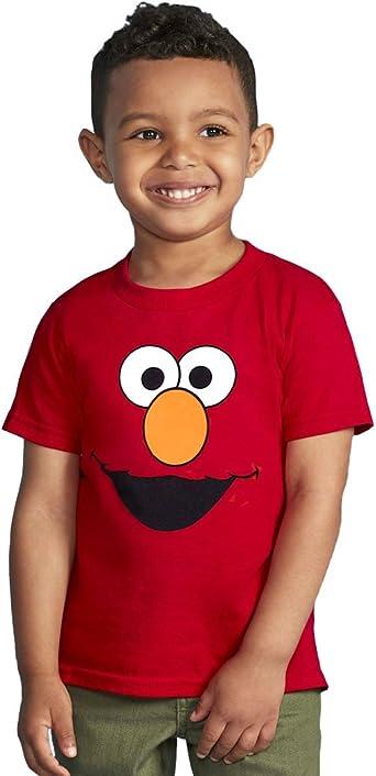 Sesame Street Elmo Face T-Shirt Pour Jeunes Enfants