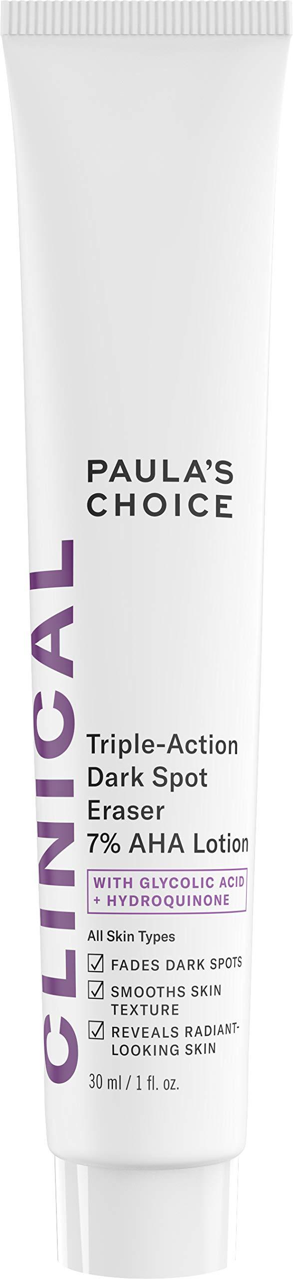 Paula's Choice CLINICAL Triple-Action Dark Spot Eraser 7% AHA Lotion, Glycolic Acid & Hydroquinone, Hyperpigmentation & Skin Lightening Cream, 1 Ounce by PAULA'S CHOICE