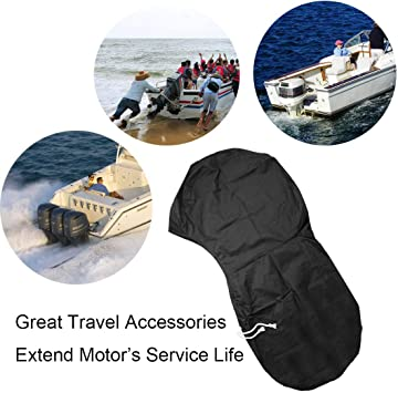 Waterproof Boat Motor Cover Full Outboard Engine Cover FLYMEI Motor Cover
