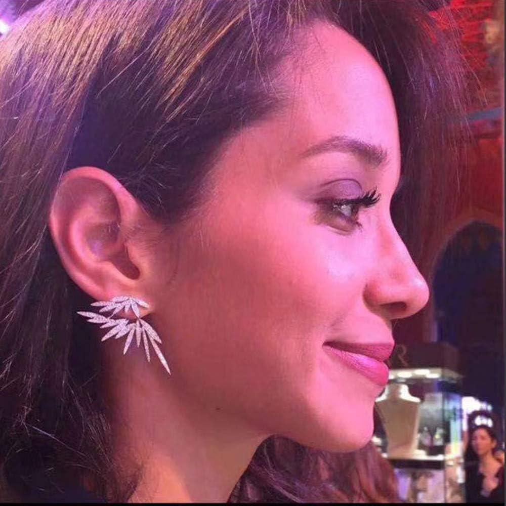 Fairy Wings Jacket cz Stud Earrings for Women And Girls Jewelry Ear Cuff Earrings