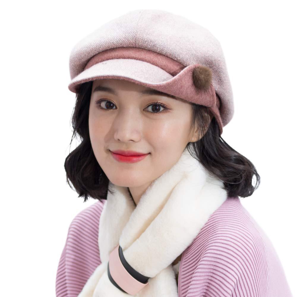 677888 Winter Hat for Women Beret Autumn Winter Octagonal Hat Painter Hat British College