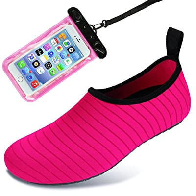 Auken Water Sports Shoes Barefoot Quick-Dry Aqua Socks Shoes for Beach Swim Drifting Surf Yoga Exercise Womens and Mens: Clothing