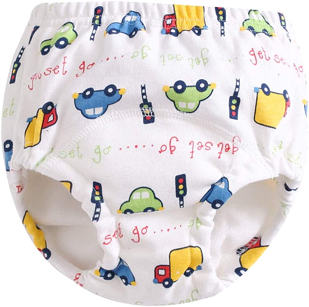 Goodkids Infant Baby Girls Boys Reusable 3 Pack Toilet Training Pants Waterproof Cartoon Nappy Underwear Cloth Diaper