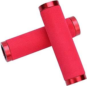 Puños de Manillar para Bicicleta de montaña, con Tapones para Extremos de Barra, para diámetro Interior 22.2 mm (Color : Rojo): Amazon.es: Deportes y aire libre