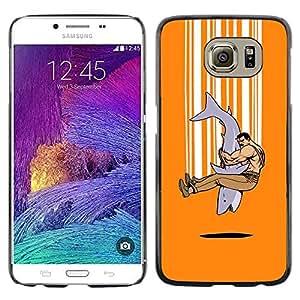 Paccase / Dura PC Caso Funda Carcasa de Protección para - Shark Strong Man Tough Art Hug Friendship - Samsung Galaxy S6 SM-G920