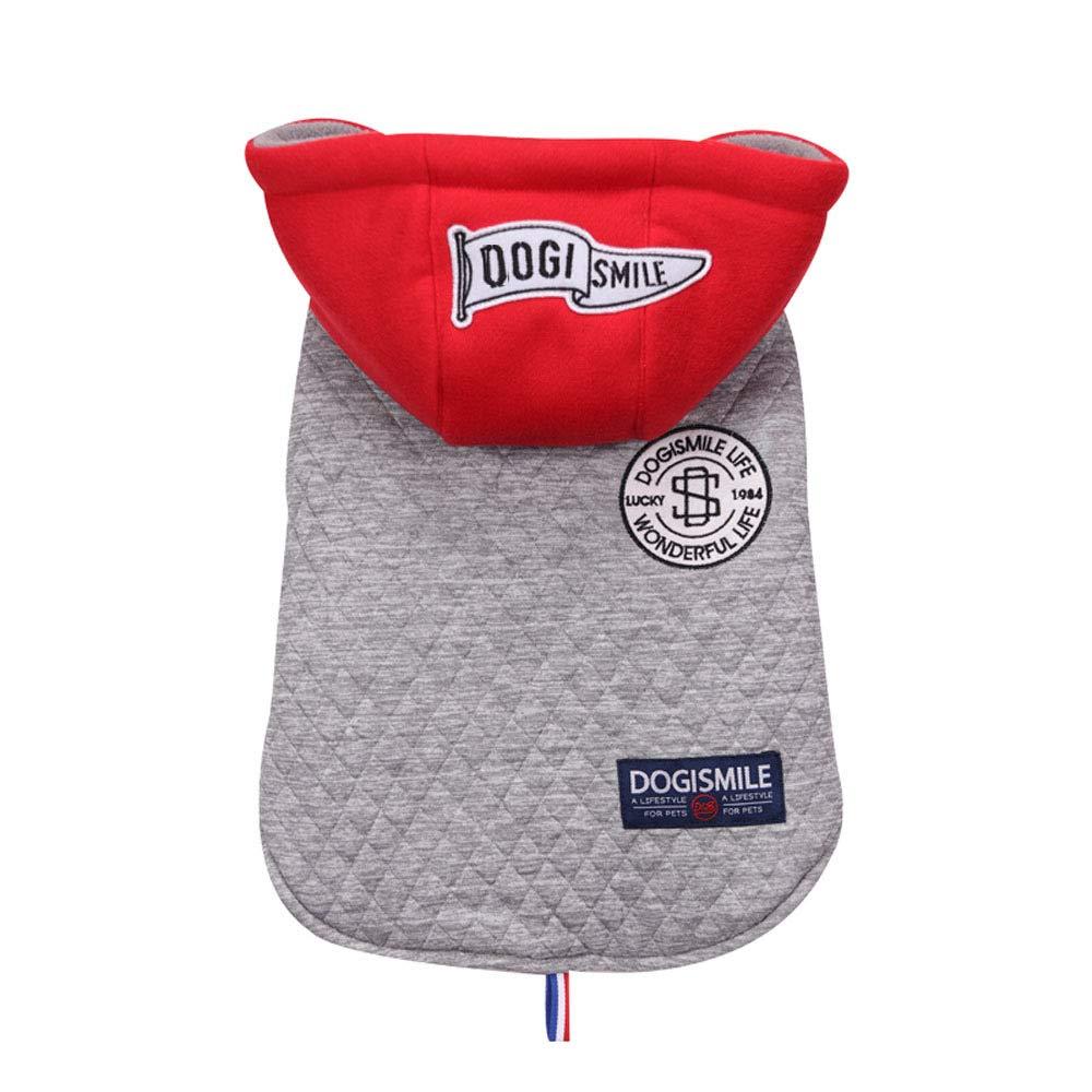 ANHPI-Pet coat Perro Deportes Al Aire Libre Chaqueta con Capucha Suéter Mascota Parabrisas Chaqueta De Abrigo De Invierno Cálido 3 Colores,Grey-M