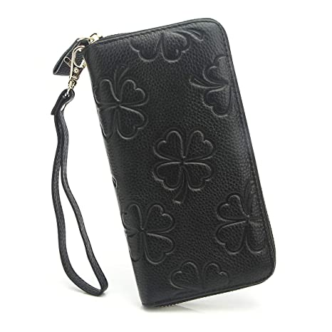 5bb7743fc87b APHISONUK Ladies Leather Purse Zip Around Purse for Women RFID ...