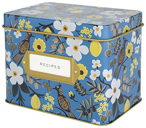 Amazon Com Rifle Paper Recipe Box Polka Dot Home Kitchen