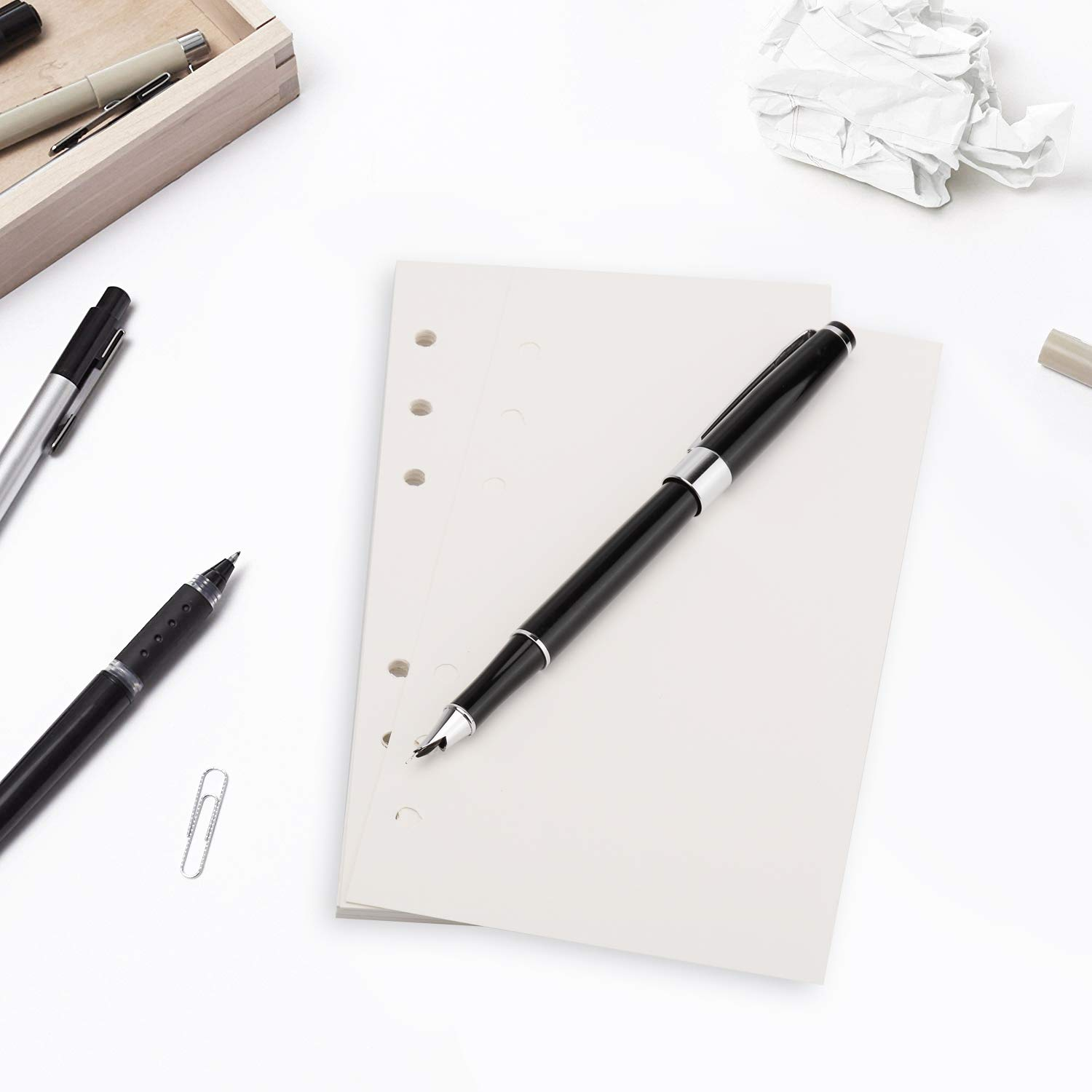 Leather Journal Refills 3 Pack Each Pack 45 Pages Refill Paper 6-Holes Inserts 135 Pages for A6 Refillable Journals Notebooks