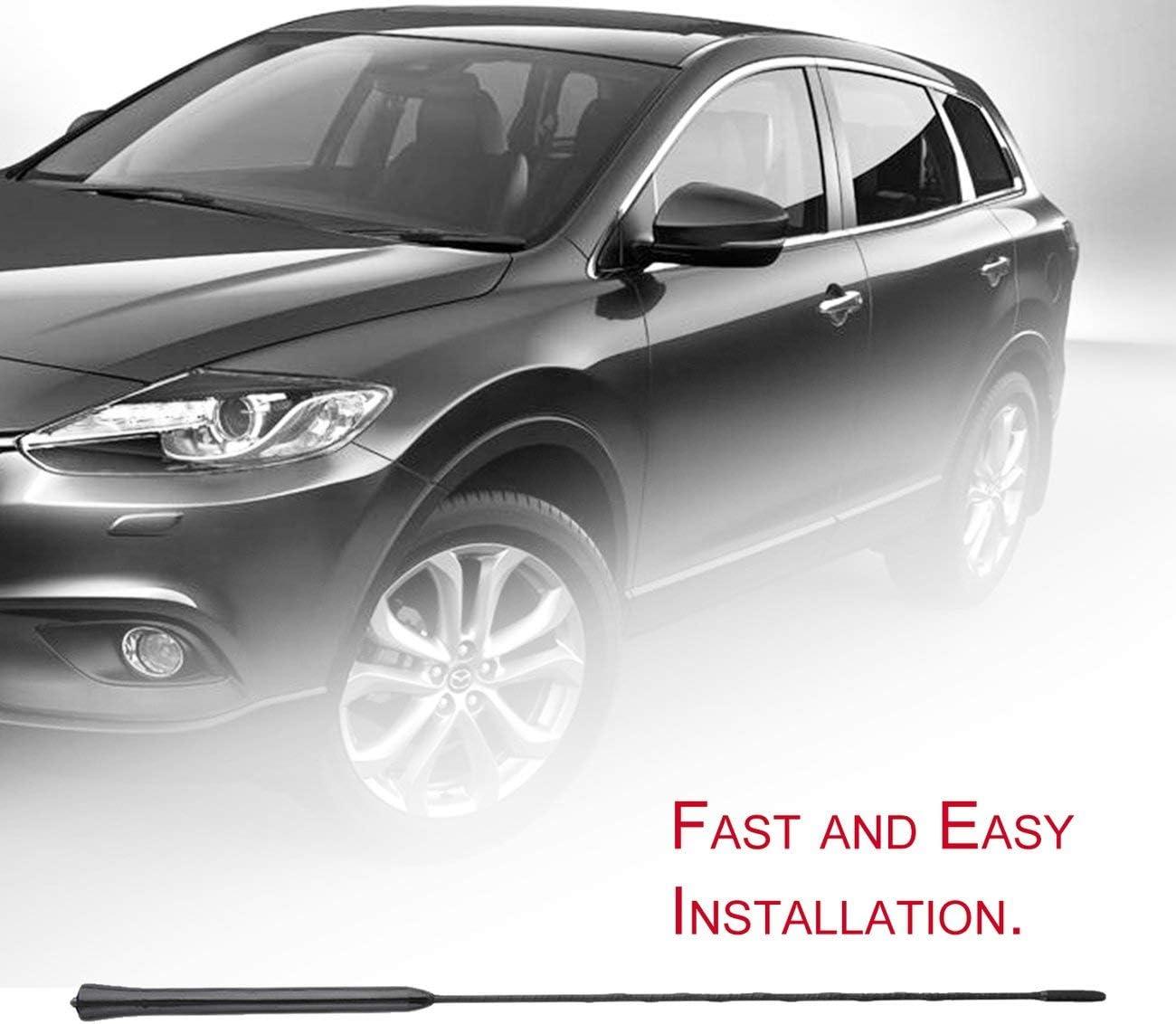 De Haute qualit/é 16 Toit Auto Voiture Universel m/ât Fouet AM//FM Fuba Antenne Antenne pour BMW pour Mazda YG0130 JBP-X