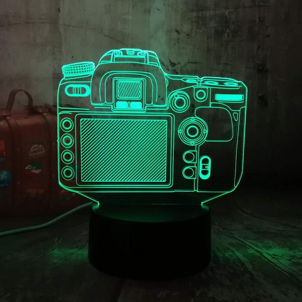 Nueva cámara digital 3D RGB LED luz de la noche multicolor 7 ...