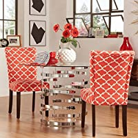 2-Piece Starlite Moroccan Upholstered Parsons Wooden Dining Chair