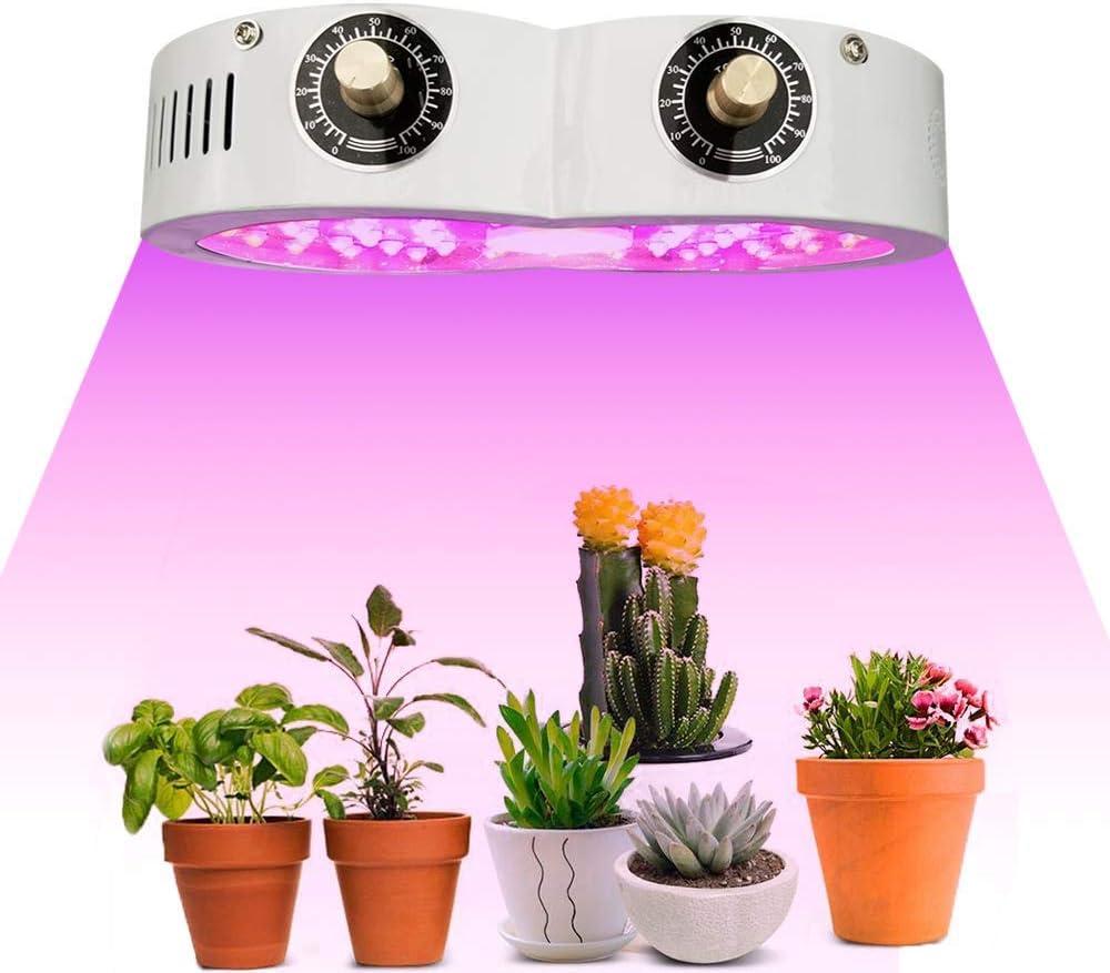 1100W開花と野菜を使ったフルスペクトルの作物を植えます。 水耕屋内植物、多肉植物、野菜や花のための二重破片の調節可能なコードを変更