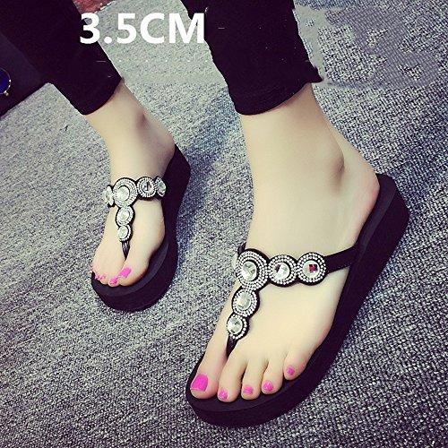 6 Femmina Le Dimensioni Haizhen Spessore Pantofole Sandali Spiaggia 3 Bottom Slippery Modo Da 39 colore 5cm Estate Per Piedi Studente D Donna A Donne 5cm Scarpe xH11qnXA