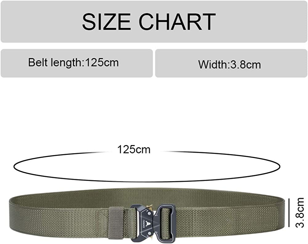 flintronic Men's Tactical Belt, 2PCS Military Style Belt