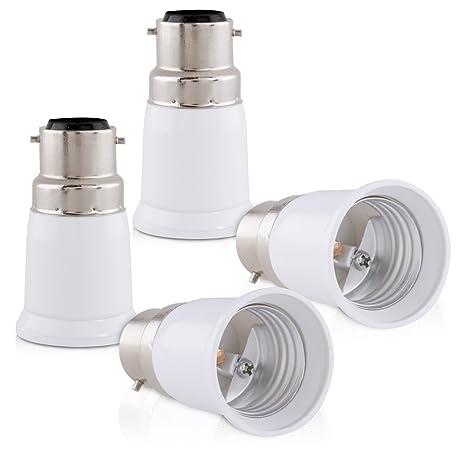 Ampoule Halogène Convertisseur Support Baïonnette Kwmobile De Douille Led Adaptateur B22 Lampe Pour Douilles Vers 4x Culot E27 USzVGqMp