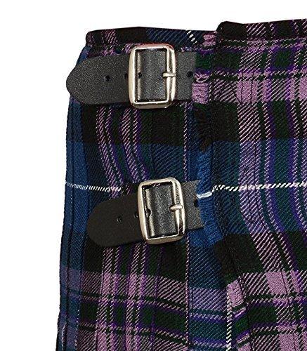 Scottish Pride Of Scottland Tartan Kilt FREE Flashes & Kilt Pin (Belly Button 44)