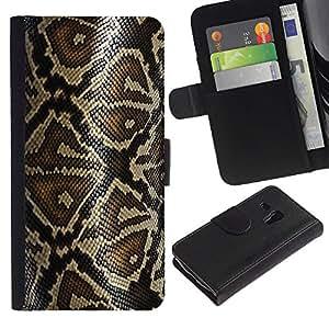 iKiki Tech / Cartera Funda Carcasa - Snake Pattern Skin Nature Reptile Art - Samsung Galaxy S3 MINI NOT REGULAR! I8190 I8190N